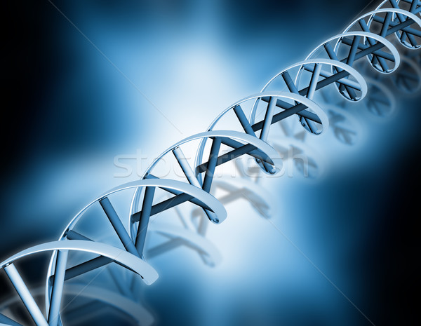 Dna abstract 3d render medische gezondheid chemie Stockfoto © kjpargeter