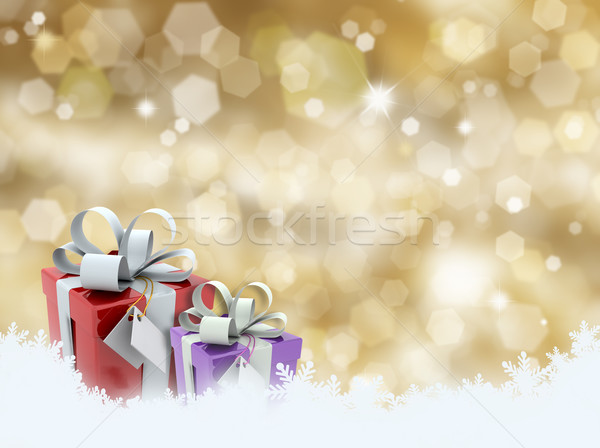 Christmas gifts Stock photo © kjpargeter