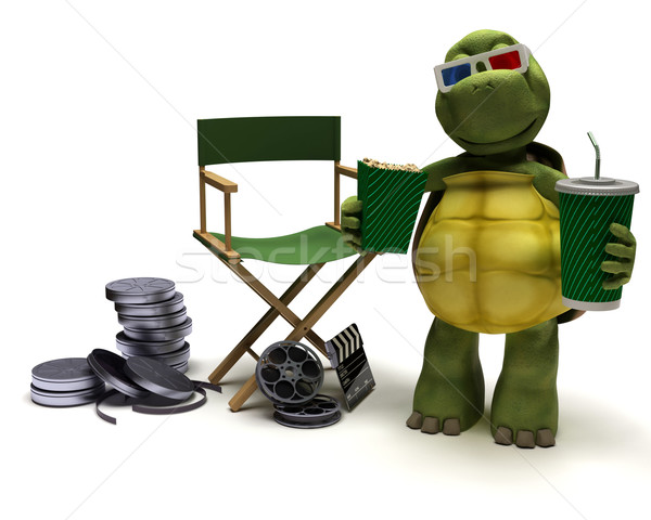 tortoise with a directors chair Stock photo © kjpargeter