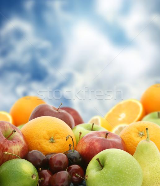 新鮮果物 青空 食品 健康 オレンジ ストックフォト © kjpargeter