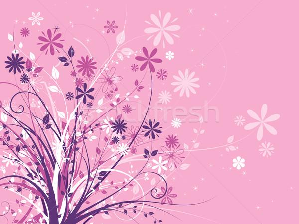 Kwiatowy chaos streszczenie charakter liści tle Zdjęcia stock © kjpargeter