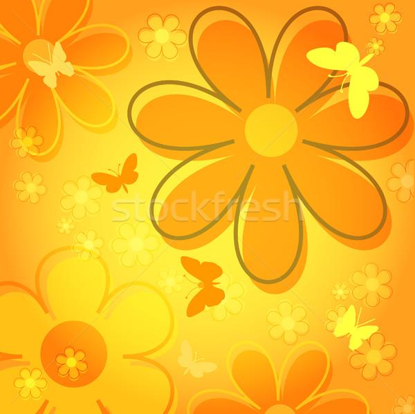 Nem leírás virágok tavasz pillangó növény Stock fotó © kjpargeter