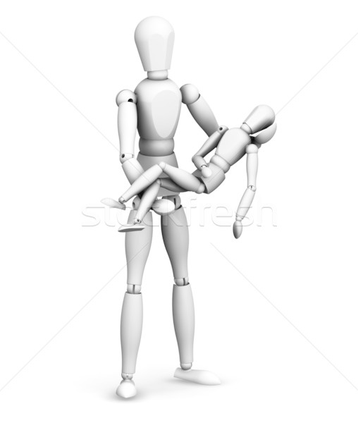 Man holding person Stock photo © kjpargeter