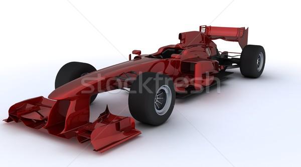 Formule een auto 3d render racing sport Rood Stockfoto © kjpargeter