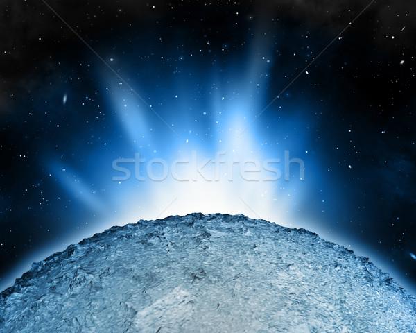 Streszczenie nieba scena planety ilustracja gwiazdki Zdjęcia stock © kjpargeter