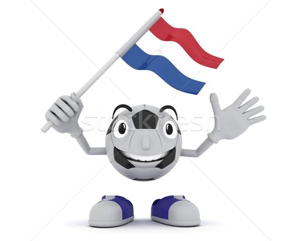 футбола талисман флаг 3d визуализации Сток-фото © kjpargeter