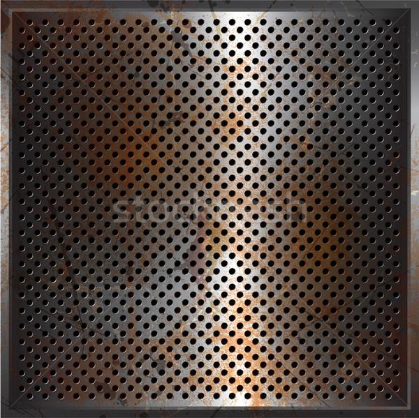 Grunge metal Rusty textura placa Foto stock © kjpargeter
