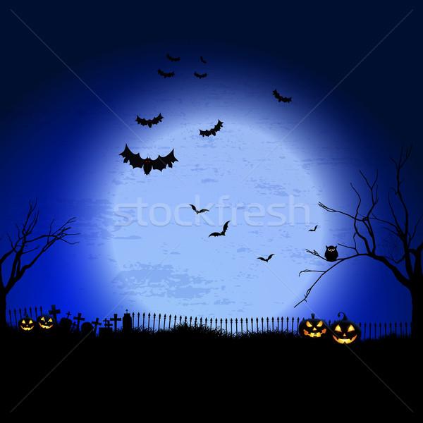 Halloween spooky landscape  Stock photo © kjpargeter