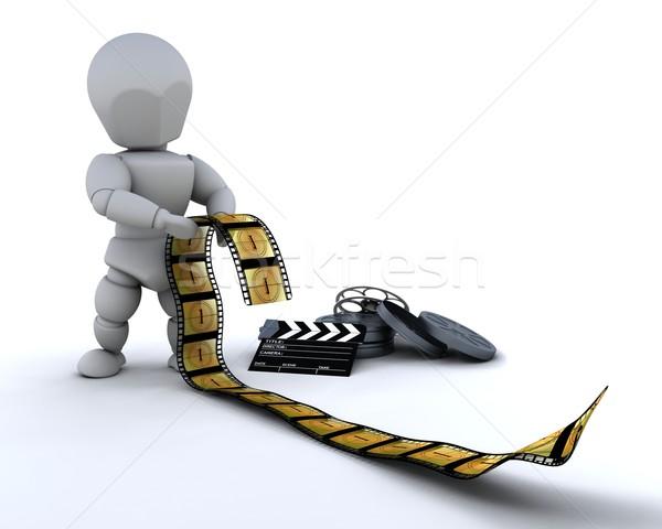男 映画 クリップ ボード 3dのレンダリング ストックフォト © kjpargeter