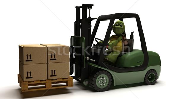 черепаха вождения грузовика 3d визуализации воды Сток-фото © kjpargeter