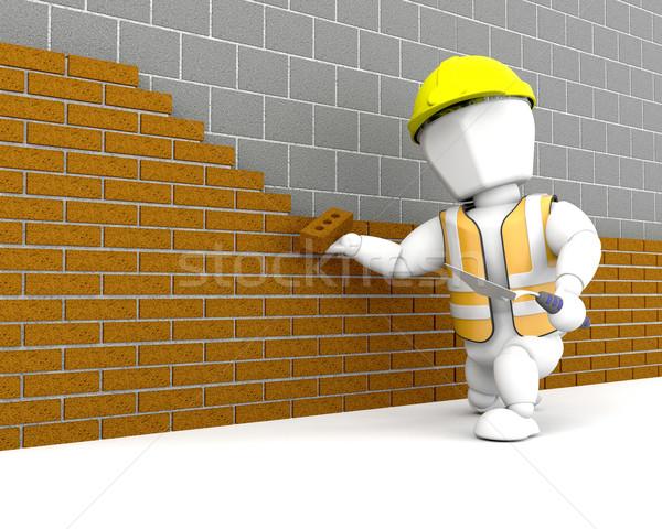 Brick Layer Stock photo © kjpargeter
