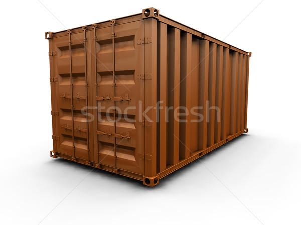 Pojemnik 3d statku przemysłowych sklepu utwór Zdjęcia stock © kjpargeter
