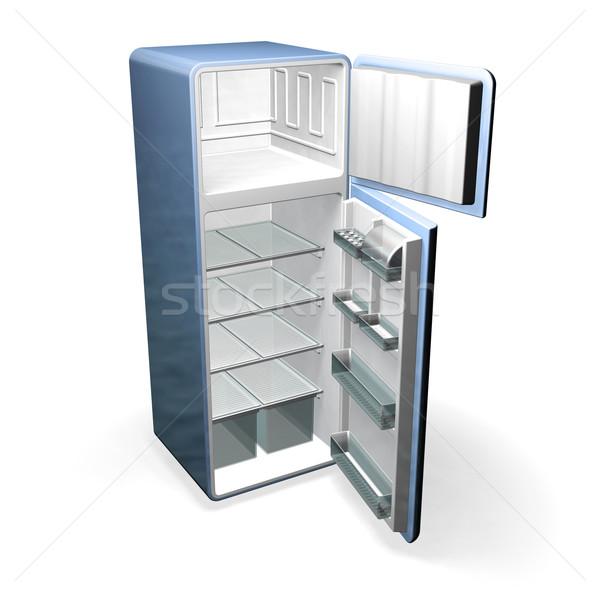 Hűtőszekrény 3d render bútor hűtőszekrény Stock fotó © kjpargeter