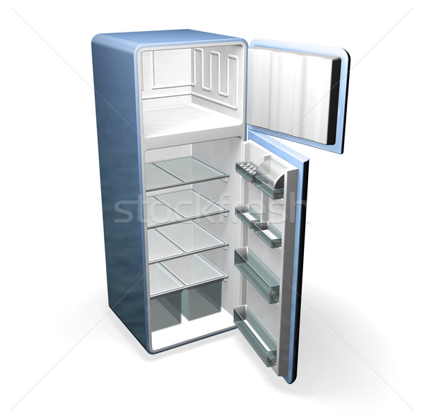 Buzdolabı 3d render mobilya buzdolabı Stok fotoğraf © kjpargeter