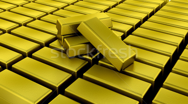gold bullion bars Stock photo © kjpargeter