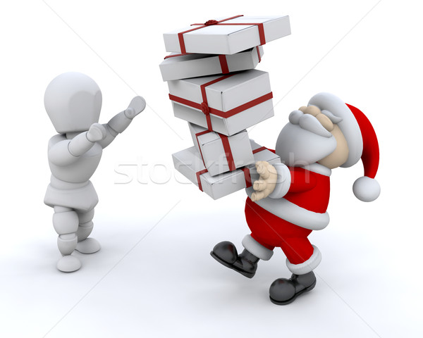 Santa giving gifts stock photo kirsty pargeter kjpargeter add to lightbox download comp negle Choice Image