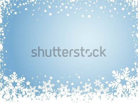 Stockfoto: Sneeuwvlok · sneeuw · winter · viering · vector · illustratie
