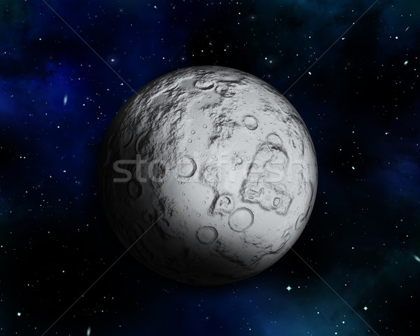 Night sky with fictional moon Stock photo © kjpargeter