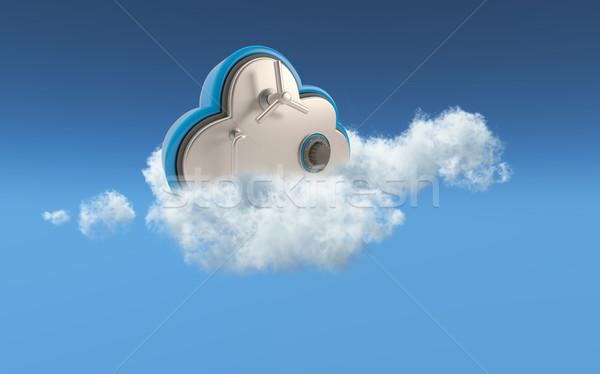 3D облаке безопасности изображение хранения небе Сток-фото © kjpargeter