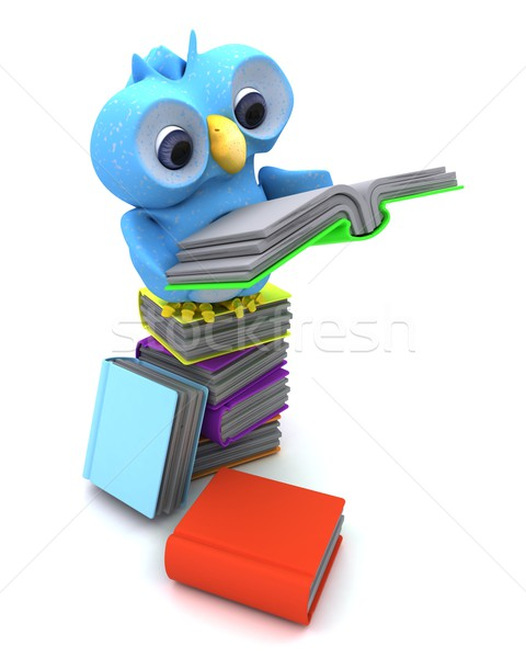 Cute Blue Bird Character Stock photo © kjpargeter