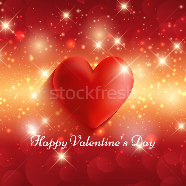 Foto stock: Dia · dos · namorados · vermelho · coração · estrela · férias