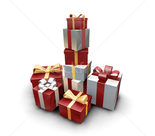 Stack of gifts Stock photo © kjpargeter