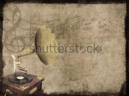Stock photo: Grunge music