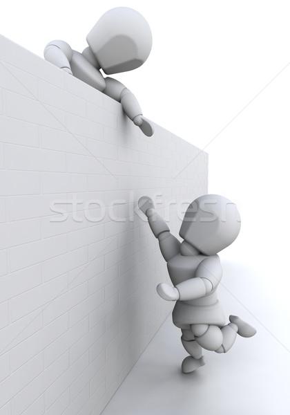Teamwerk 3d render iemand geven helpende hand ander Stockfoto © kjpargeter