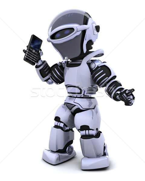 Foto stock: Robot · inteligentes · 3d · carácter · ordenador