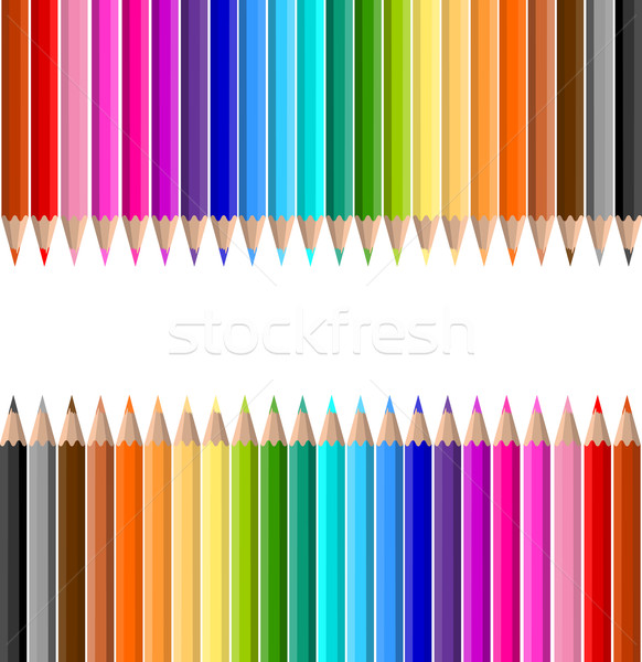 Crayons crayon fond couleur vecteur coloré Photo stock © kjpargeter