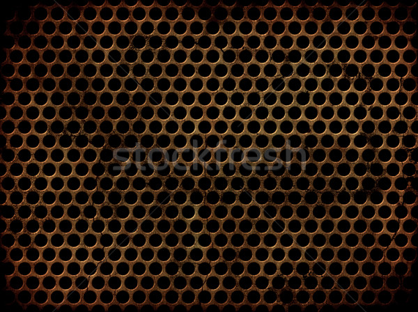 Grunge perforated metal Stock photo © kjpargeter