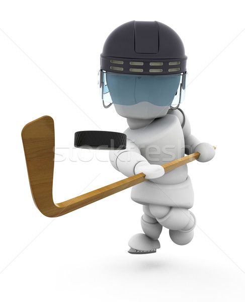 Ice-hockey player Stock photo © kjpargeter
