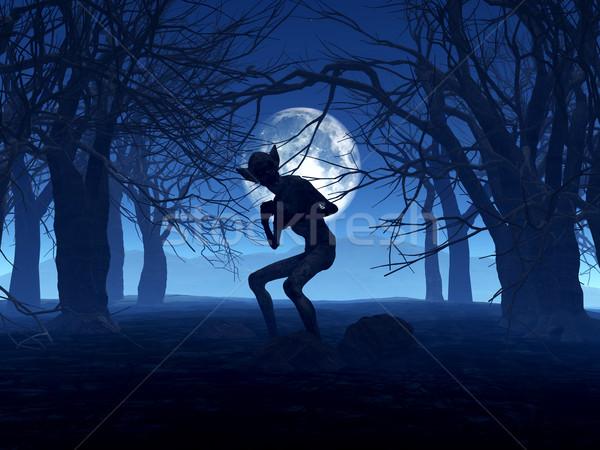 3D demoníaco descobrir assustador floresta 3d render Foto stock © kjpargeter