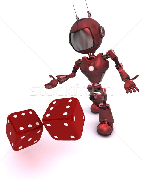 Android rolling dice Stock photo © kjpargeter