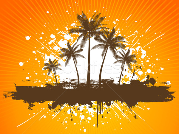 Grunge palmeiras primavera natureza folha fundo Foto stock © kjpargeter