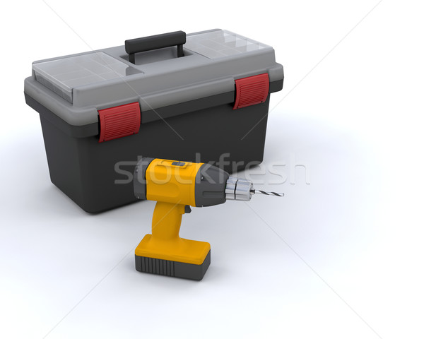 Tool box and power drill Stock photo © kjpargeter