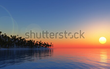 3D tropical background Stock photo © kjpargeter