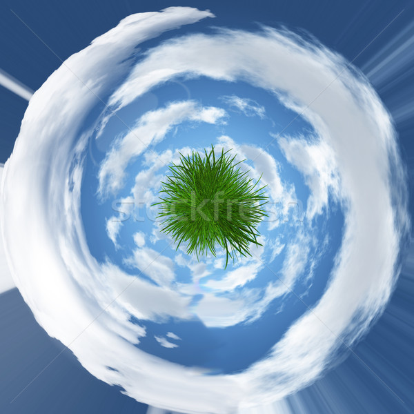 Stock photo: Abstract grassy globe image