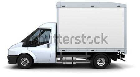 ベッド ヴァン 3dのレンダリング トラック 旅行 輸送 ストックフォト © kjpargeter