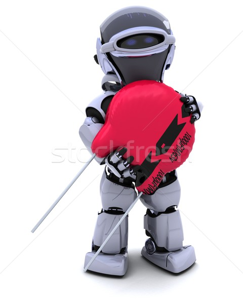 Robot with a capacitor Stock photo © kjpargeter