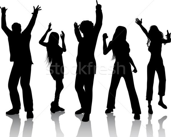 Nem leírás lány buli férfi nők Stock fotó © kjpargeter