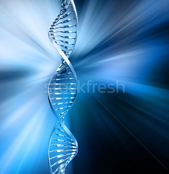 Abstract dna rendering 3d medici tecnologia medicina Foto d'archivio © kjpargeter