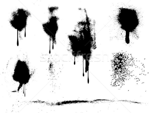 Grunge pintura en aerosol objeto sucia Foto stock © kjpargeter
