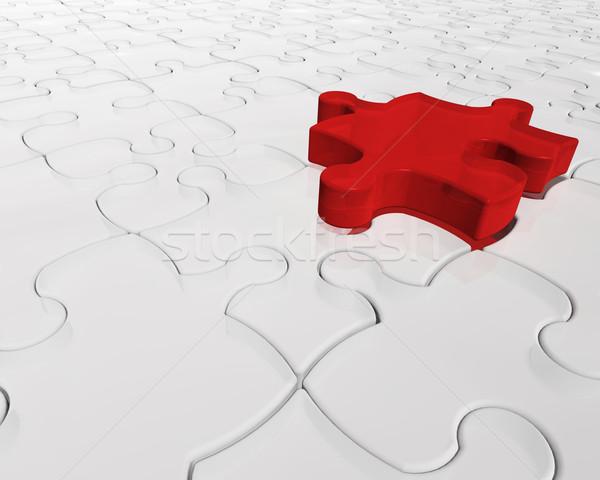 Individualité rendu 3d une rouge pièce Photo stock © kjpargeter