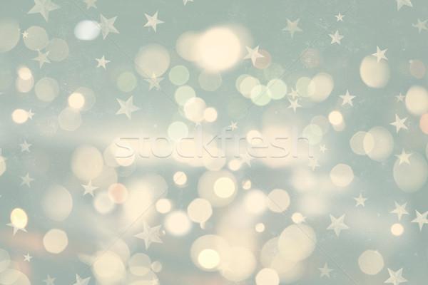 Retro styled Christmas bokeh lights Stock photo © kjpargeter