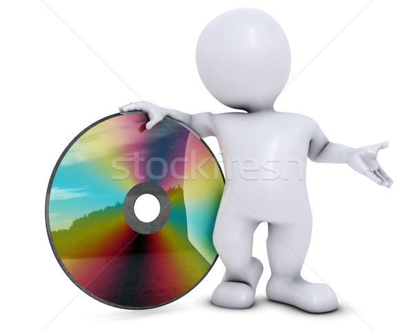 3D Morph Man with DVD disk Stock photo © kjpargeter