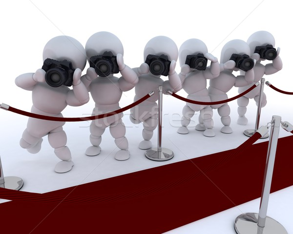 Paparazzi tapis rouge rendu 3d homme film photo Photo stock © kjpargeter