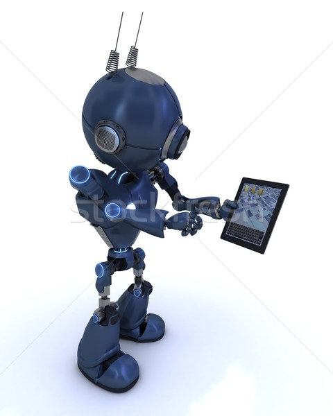 Android with mobile tablet device Stock photo © kjpargeter