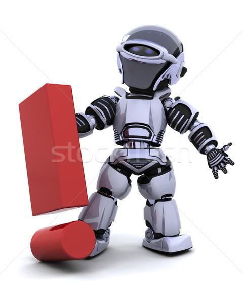 Stok fotoğraf: Robot · simge · 3d · render · gelecek · yaşam · tarzı · modern