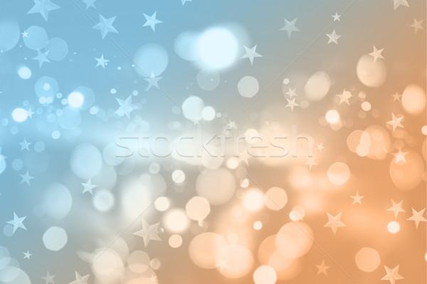 Retro styled Christmas background Stock photo © kjpargeter